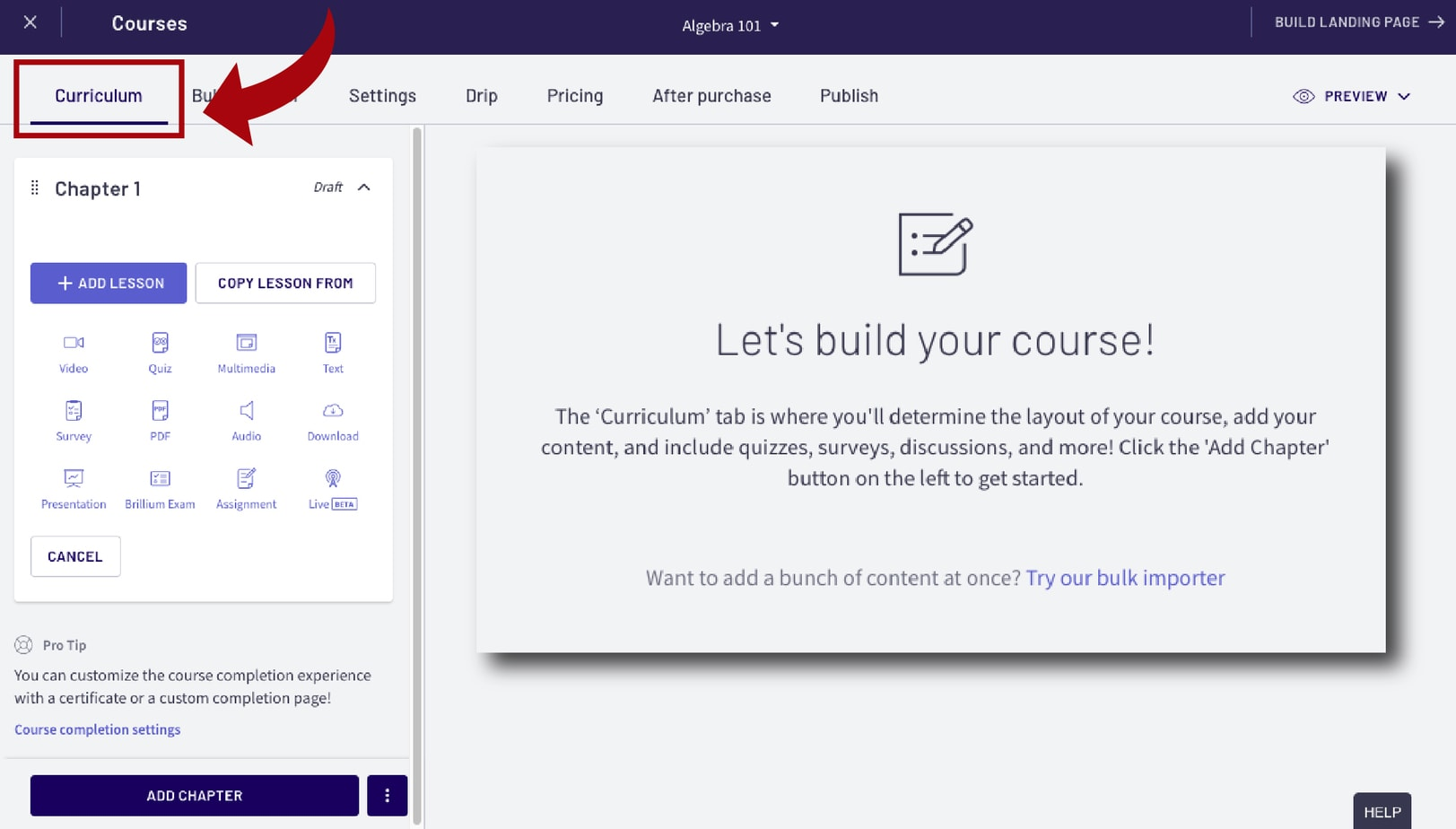 Thinkific Review Step 3 Build Your Course1