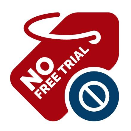 No Free Trial Icon